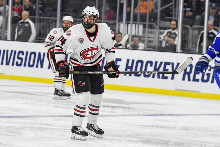 St. Cloud State's Patrick Newell named NCHC Player of the Week - St. Cloud State University