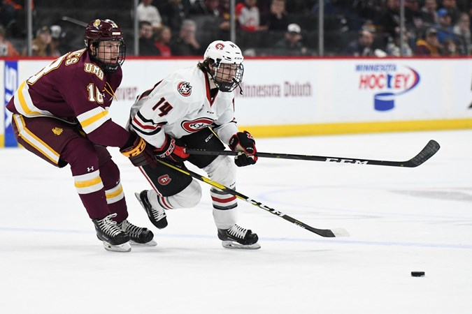 1 St  Cloud State edged by #4 UMD in NCHC Frozen Faceoff