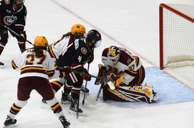 Huskies set to face No. 2 seed Minnesota in WCHA playoffs - St. Cloud State University Athletics